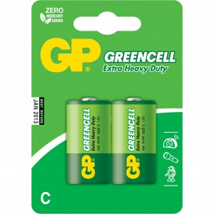 Батарейки GP Greencell R14/2BP C