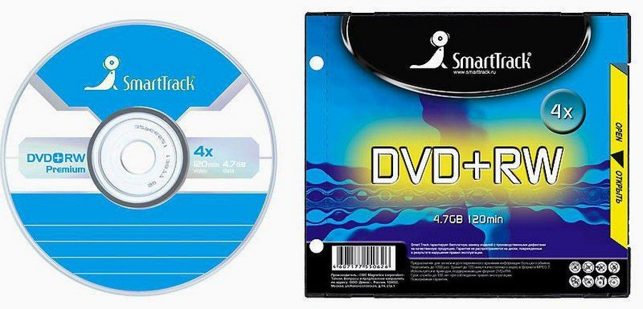 Диск Smart Track DVD+RW 4.7GB 4x SL-1