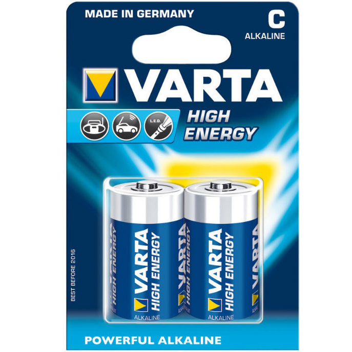 Батарейки VARTA LongLife Power LR14/2BP C