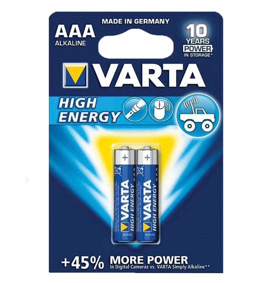 Батарейки VARTA LongLife Power LR03/2BP AAA